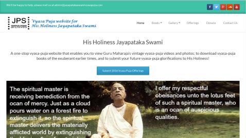 Jayapataka Swami Vyasa Puja 2016
