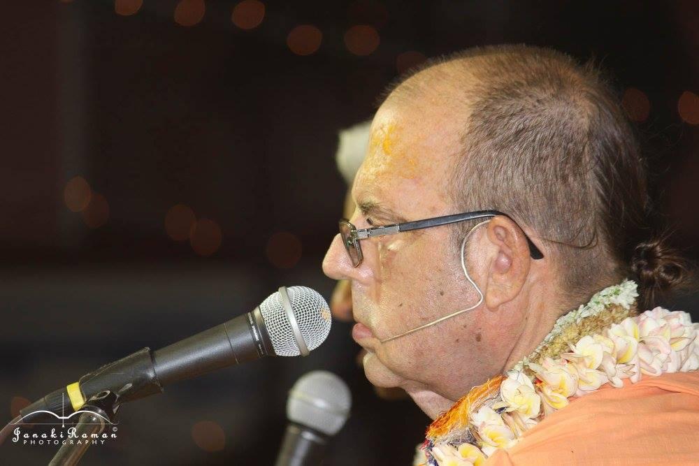 Jayapataka Swami at Vyasa Puja, Mayapur, India. 17th April 2016
